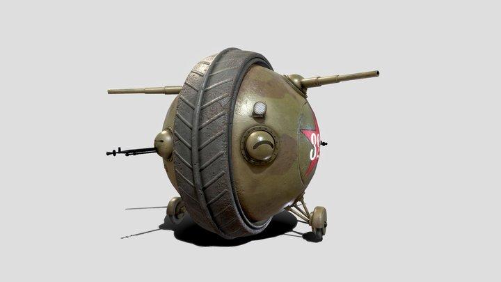 """Soviet Ball Tank """"Sharotank"""" 3D Model"""