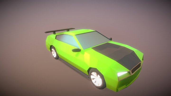 Modeling A Low Poly Car 3D Model