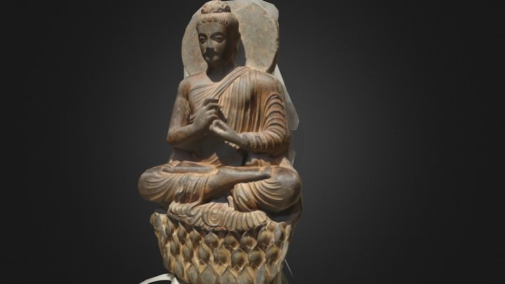 Seated Buddha scanned by Delgrande and Leak 3D Model