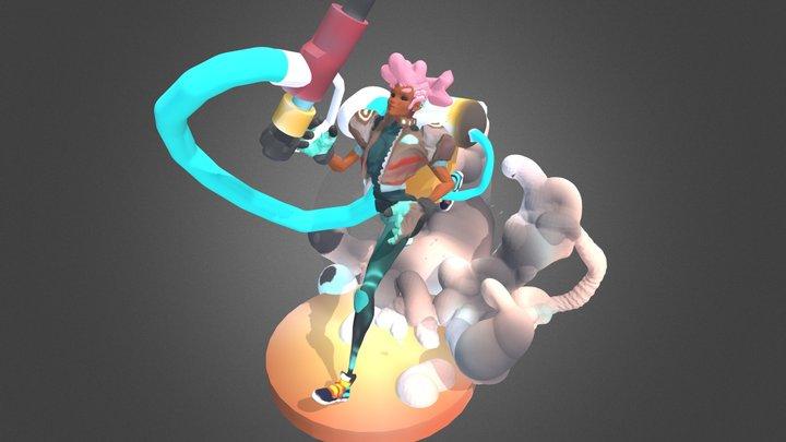 Wip 2 : Personal projet figure 3D Model