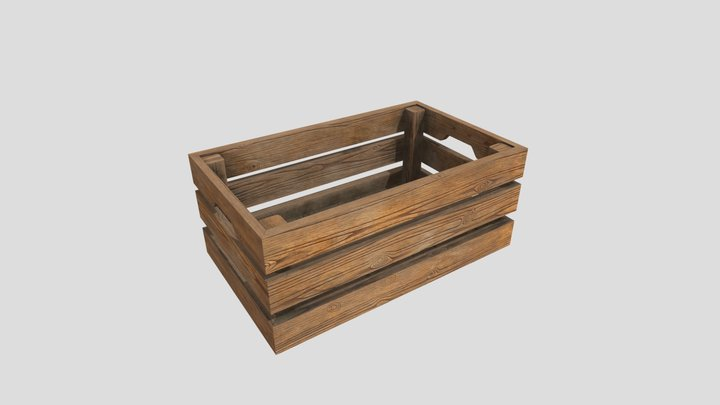 IKEA Wooden Crate 3D Model