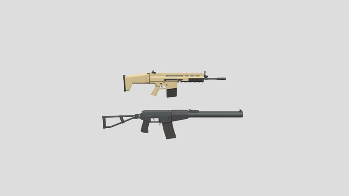 AS VAL and SCAR H 3D Model