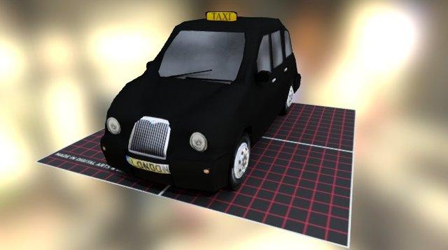 Taxi London 3D Model