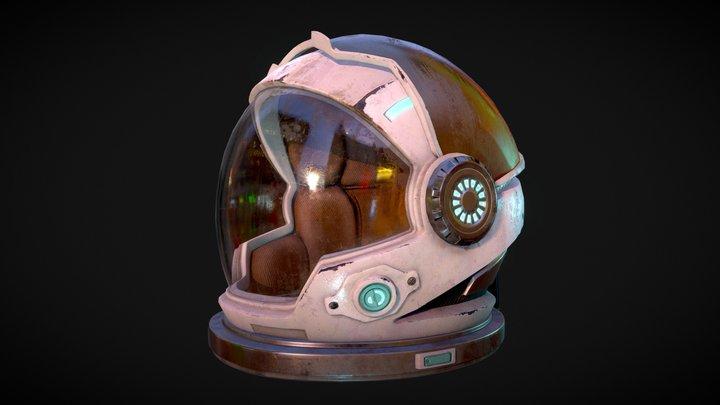 Cosmonaut Helmet 3D Model
