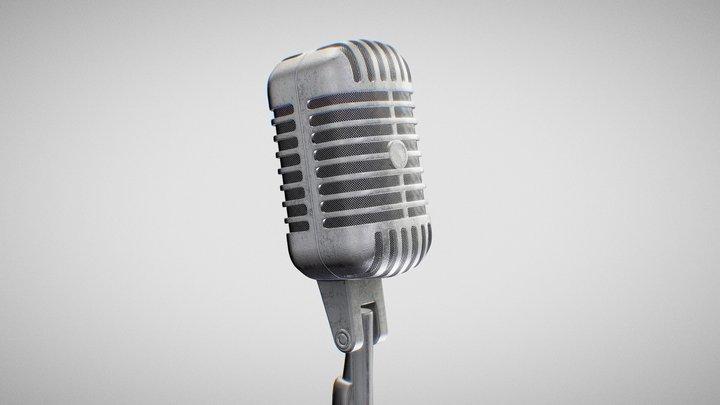 Microphone - Shure 55SH 3D Model