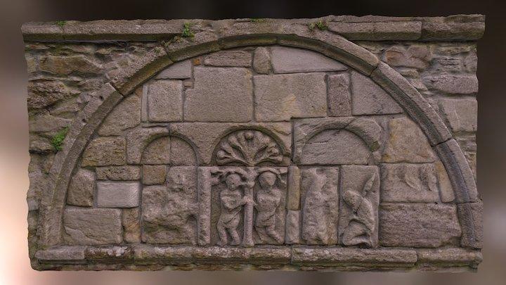 Ardmore, St Declan Church Stone Work 3D Model