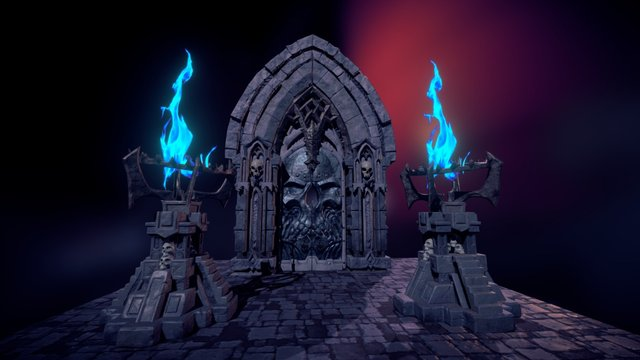 Darksiders II Environment Props Project 3D Model
