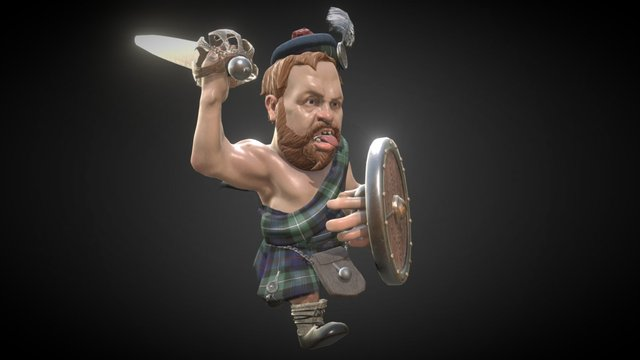 Chieftain O' the Puddin' race!  WIP 3D Model