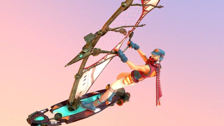 PEAK - Windsurfer 3D Model