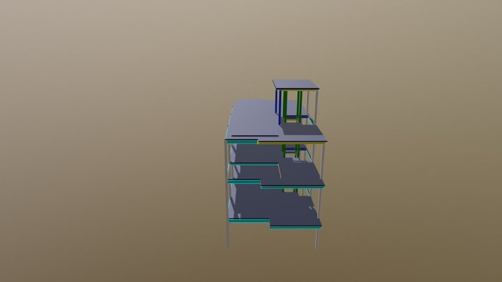 Job N28 3 Storey Steel Structure 3D Model