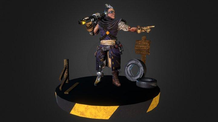 Don Ego ( Borderlands Character FanArt ) 3D Model