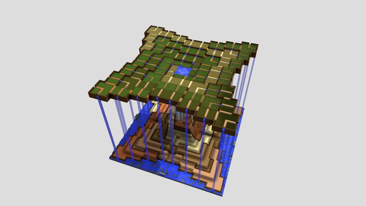 Central Build Test Render 3D Model