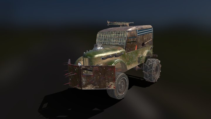 Post-apocalyptic truck 3D Model