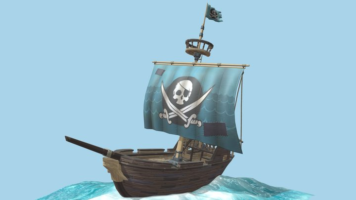 Classic Pirate Ship - GAME READY 3D Model