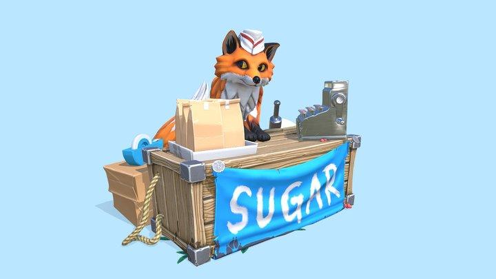 A Fox Selling Sugar 3D Model