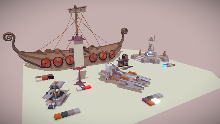 5 drafts from games 3D Model