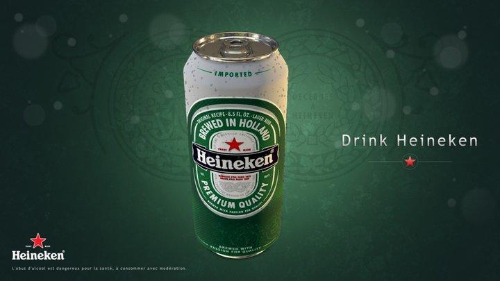 Packshot Heineken (PBR update) 3D Model