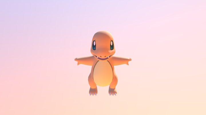 3DS - Pokemon X Y - 004 Charmander 3D Model