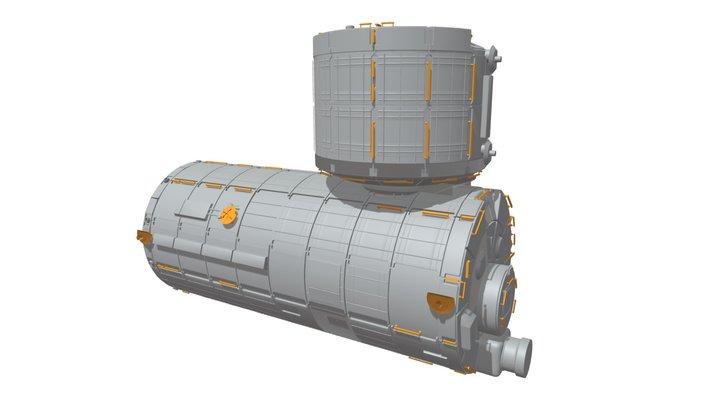 3D Japanese Experiment Module (JEM) Kibo 3D Model