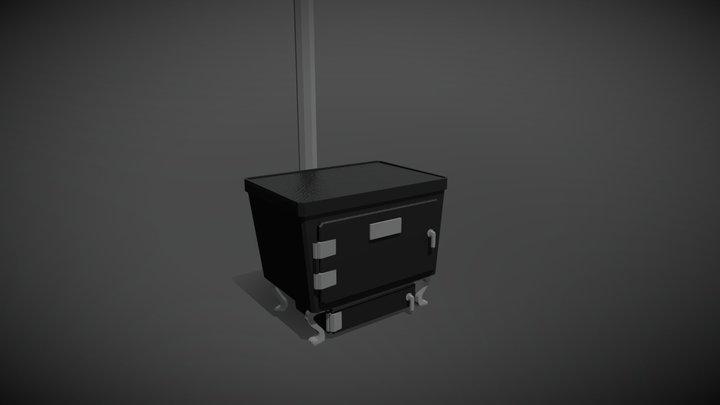 Wood Stove 3D Model