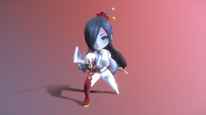 Casual RPG Character - 18 Mira 3D Model