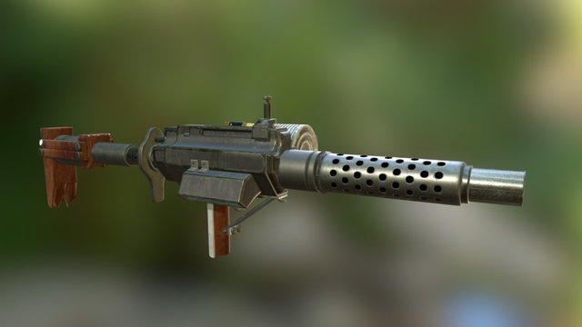 .308 Machine Gun 3D Model