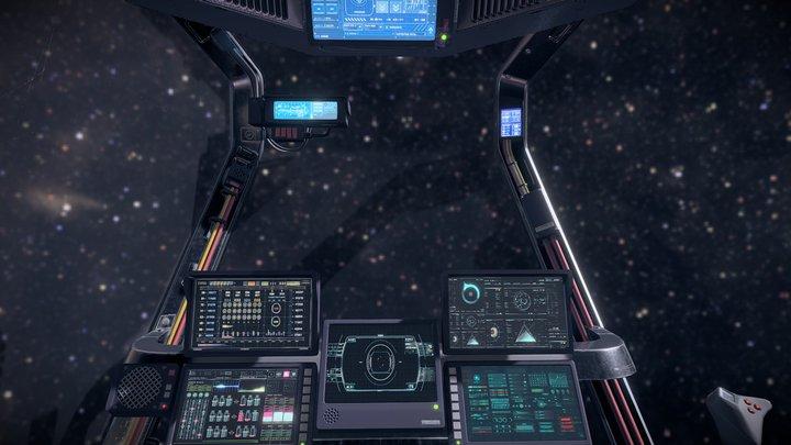 Sci Fi Cockpit 4 3D Model