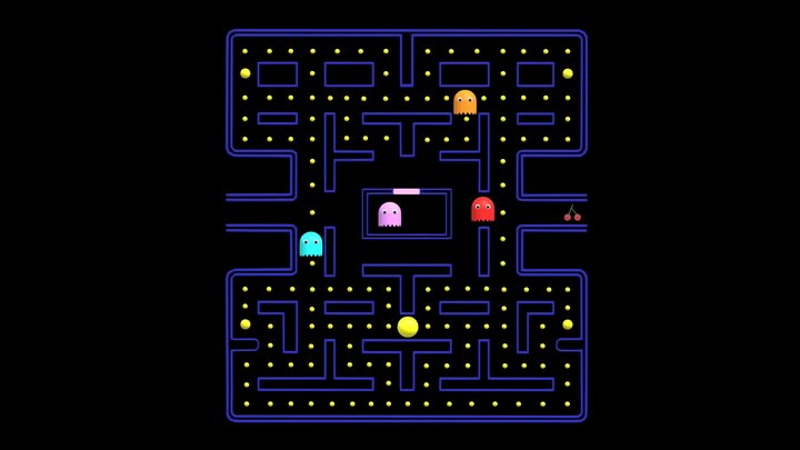 Pacman Game 3D Model