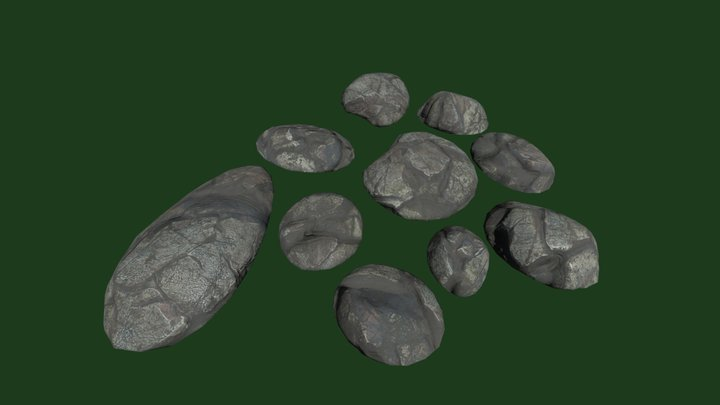 Ground Pebbles 3D Model