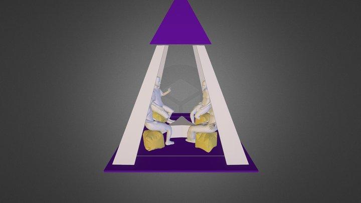 Lipton  pyramid tent layout 3D Model