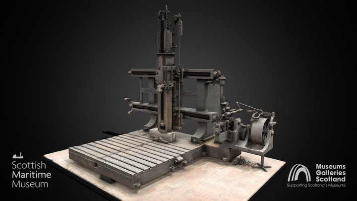 Horizontal and Vertical Planing Machine 3D Model