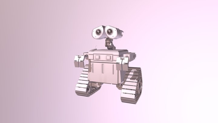 Low poly-ish Wall-E 3D Model