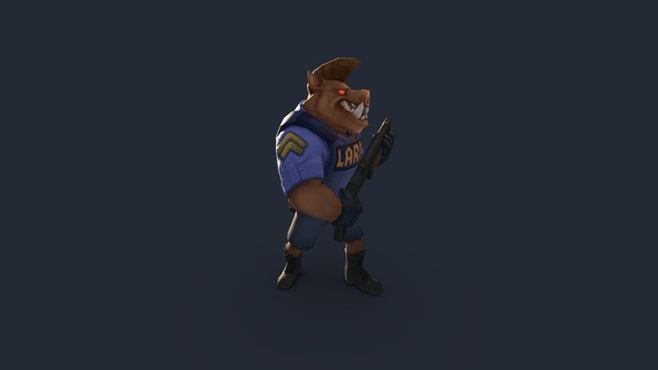 Pig Cop 3D Model