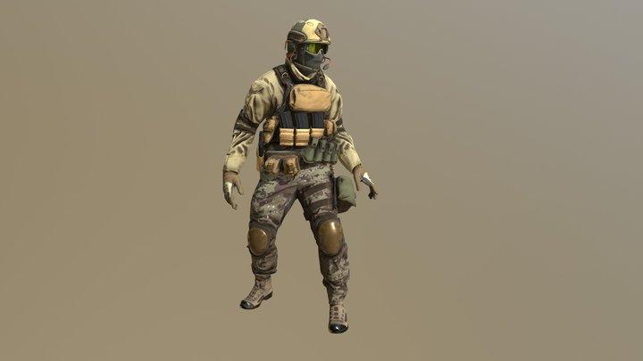 DesertSoldier 3D Model