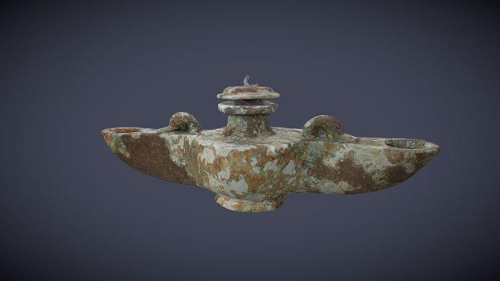 Lampe à huile en bronze, Grottes d'Azé, 71 3D Model