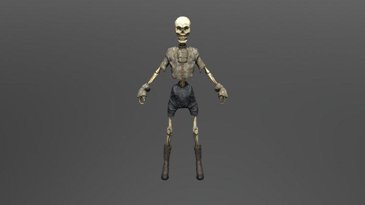 skeleton T-Pose 3D Model