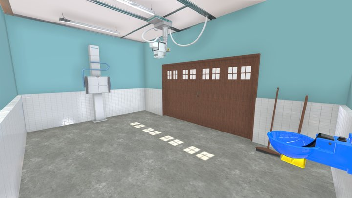 Equine x ray room 3D Model