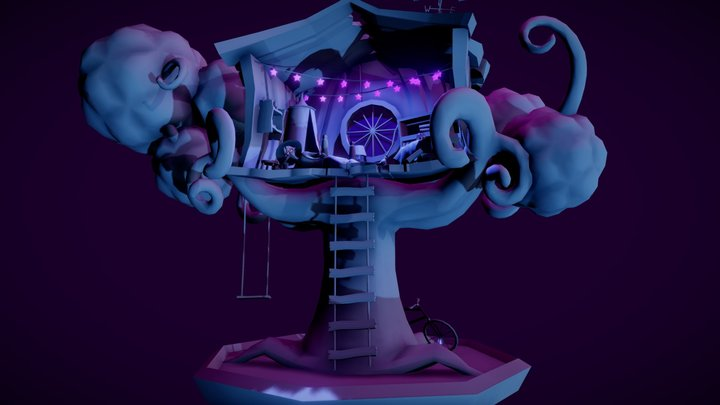 The Witch's Treehouse (WIP) 3D Model