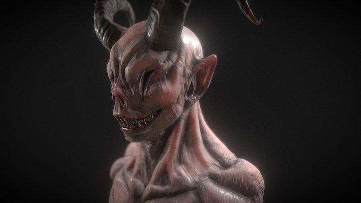 Demonic Head 3D Model