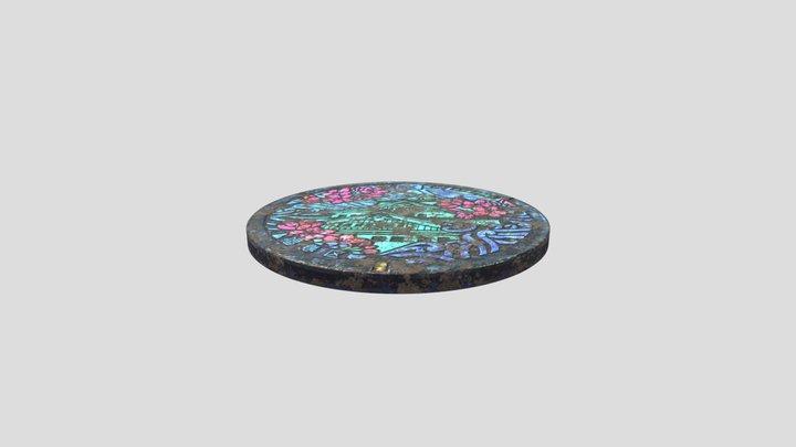 Manhole Cover 2 3D Model
