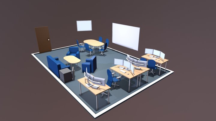 Smart Services Room Layout 3b 3D Model