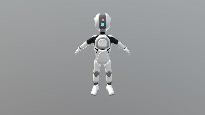 Robot Videogame Character 3D Model