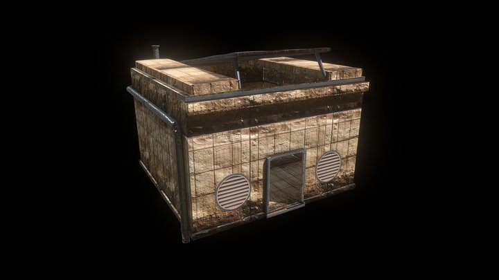 Desert Sci Fi Punk House Bunker Building 3D Model