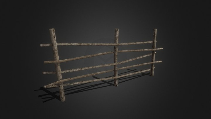 Withe Fence 3D Model