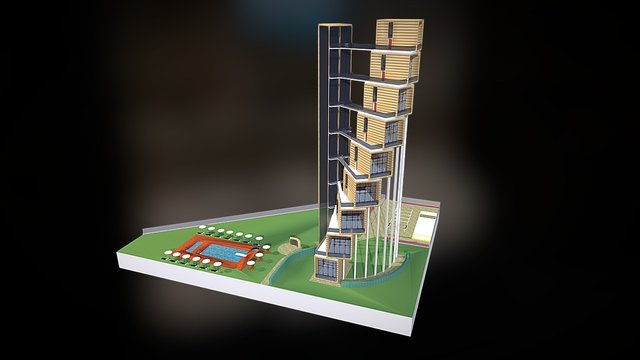 Le Cambuse Beach Resort_2 3D Model