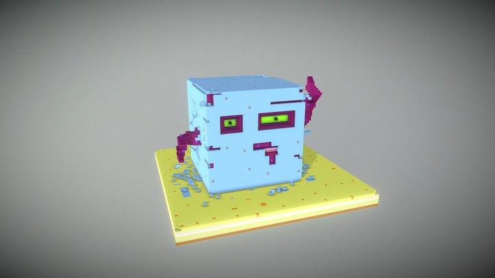 Monster Hatching 3D Model