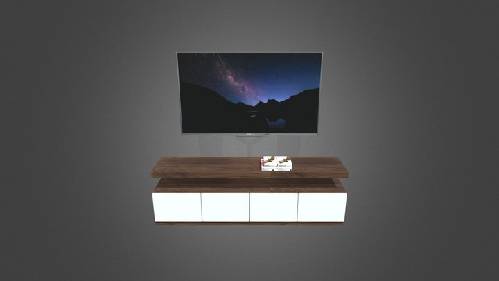 Kệ tivi phòng ngủ 3D Model