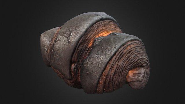 Burnt Croissant 3D Model