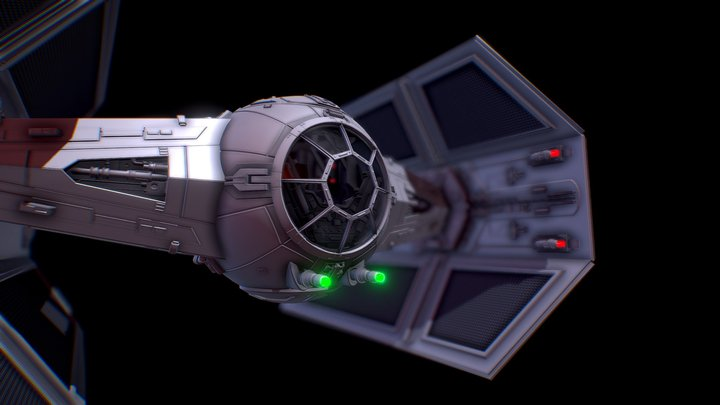 TIE ADVANCED X1 (Darth Vader) 3D Model