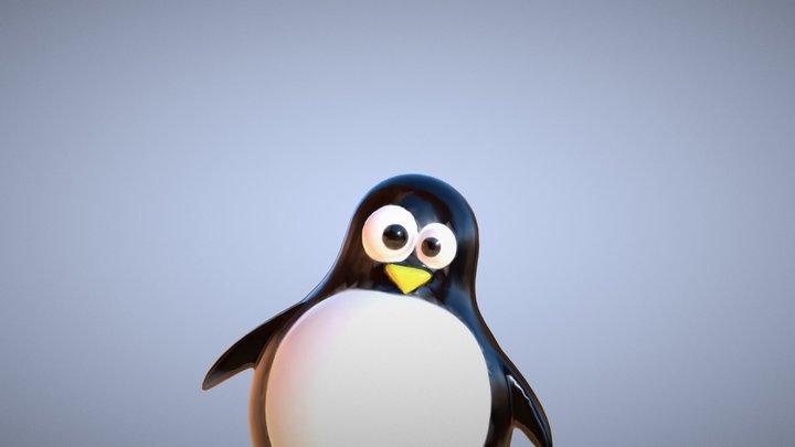 Medium | Penguin-Balloon 3D Model